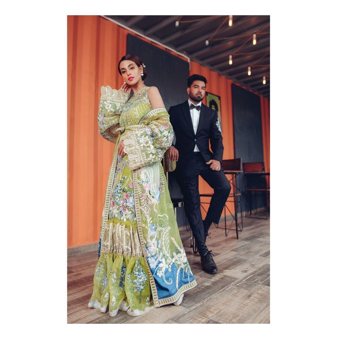 Latest Beautiful Photo Shoot of Romantic Couple Iqra Aziz and Yasir Hussain