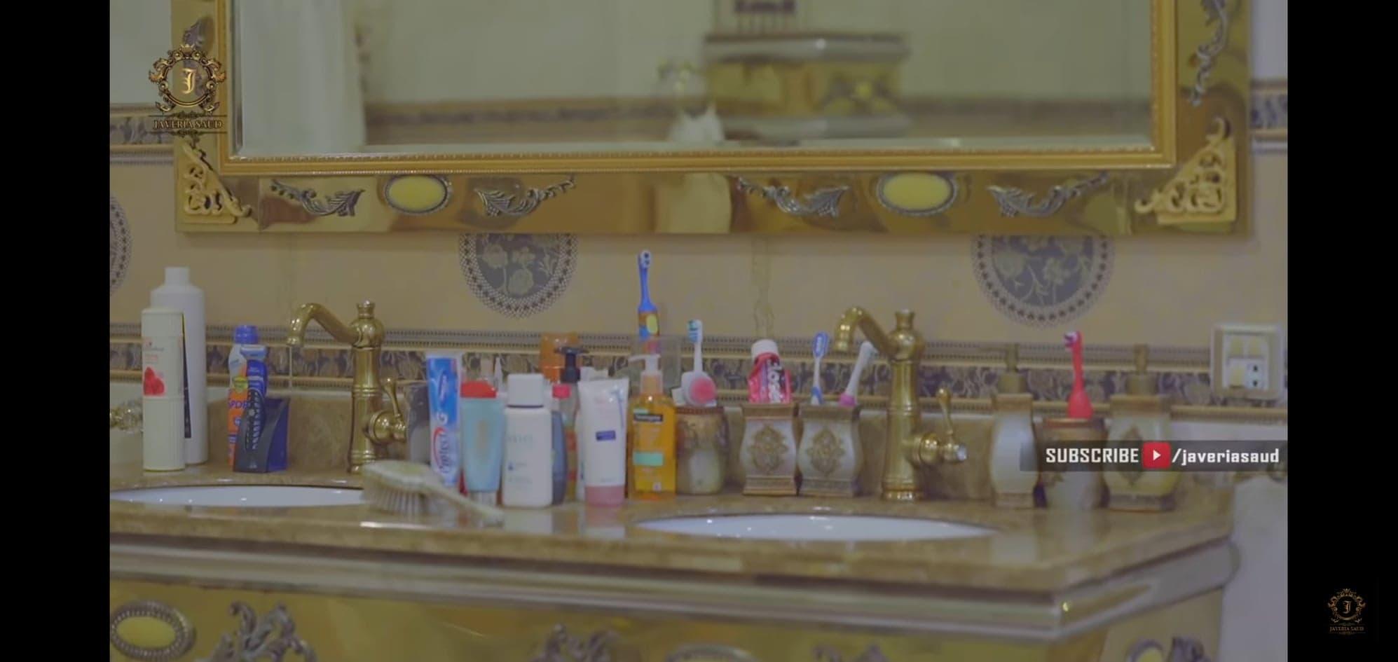 Javeria Saud Shows Her Luxurious Bedroom & Bathroom