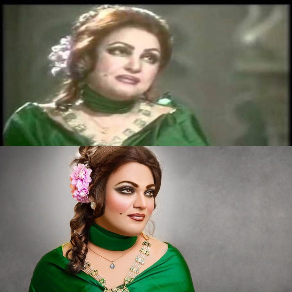 Makeup Artist Shoaib Khan Transformed Himself Into Noor Jehan 6