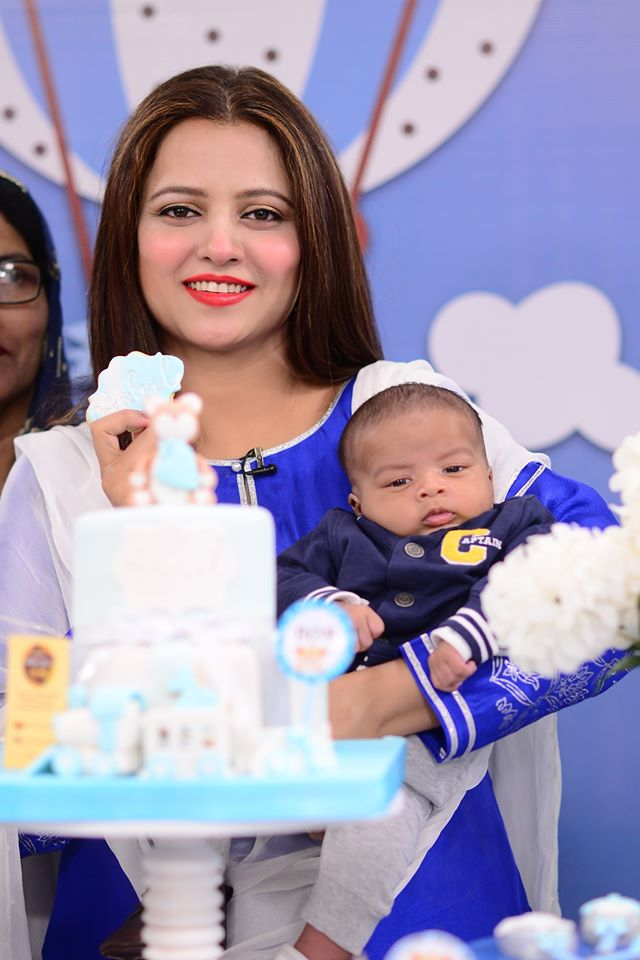 Mizna Waqas with Baby 8