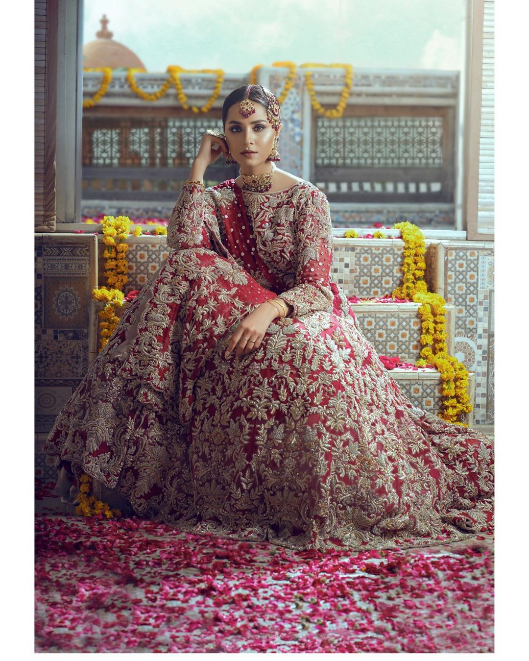 Latest Bridal Photo Shoot of Nimra Khan for Anamta Couture