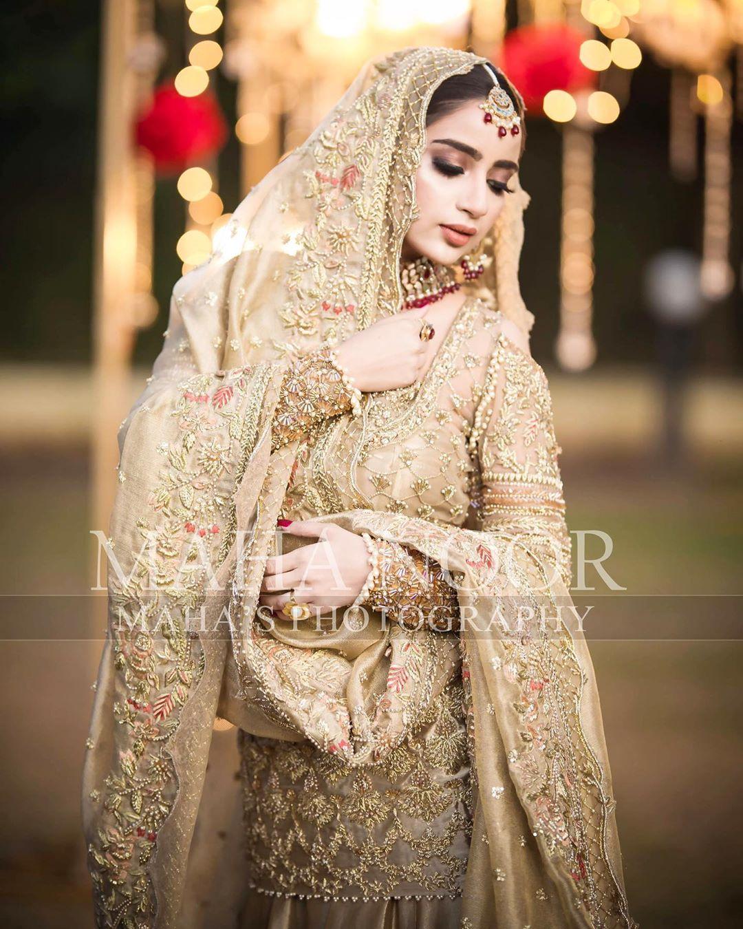 Latest Beautiful Bridal Photo Shoot of Saboor Ali