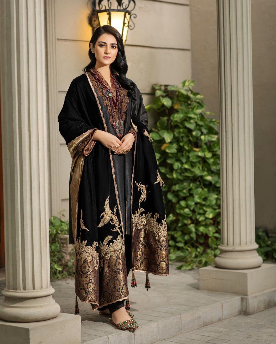Beautiful Sarah Khan's Latest Photo Shoot for Nilofar Shahid
