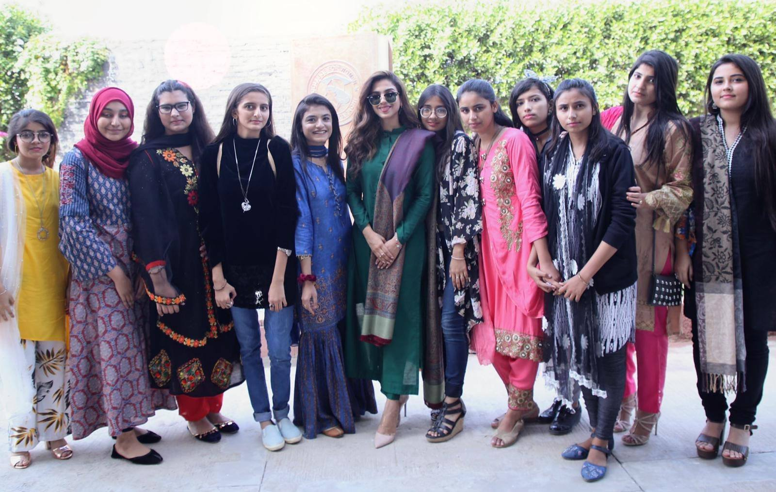 Actress Sonya Hussyn invited by An All Girls College as the Guest of Honor