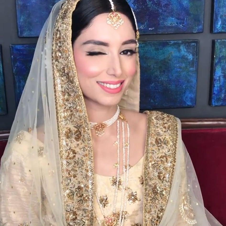 Sports Presenter Zainab Abbas and Hamza's Nikkah Beautiful Pictures