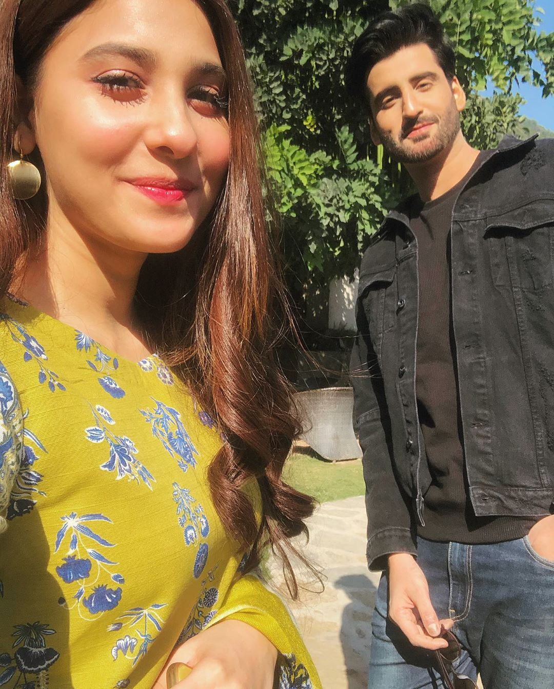 Hina Altaf and Agha Ali on set of their Drama Dil e Gumshuda