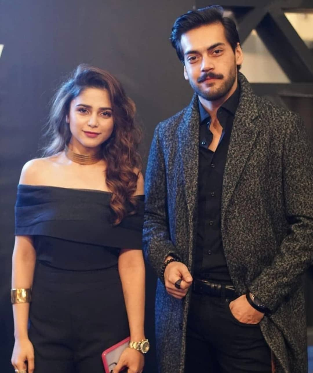 Beautiful Singer Aima Baig with her Friend Shahbaz Shigri at an Event