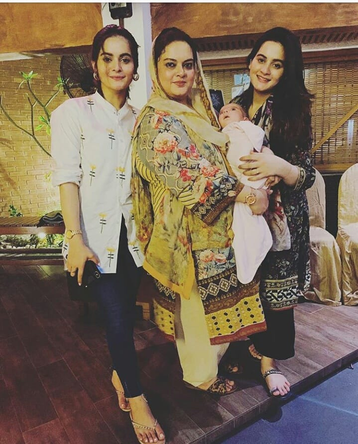 Latest Beautiful Clicks of Aiman Khan with Daughter Amal