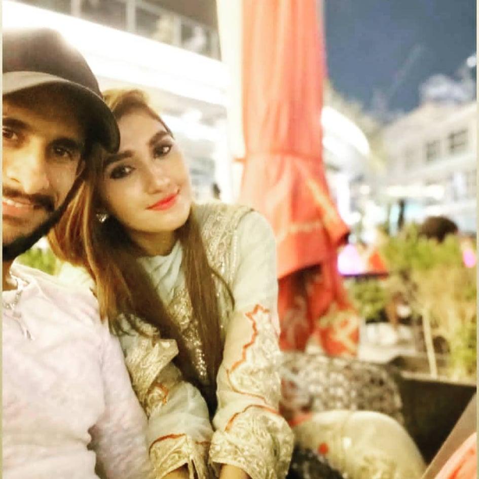 Cricketer Hassan Ali Latest Clicks With Wife Samiya in Dubai