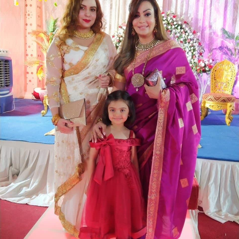Actress Sadia Imam with her Daughter Meerab at a Recent Wedding