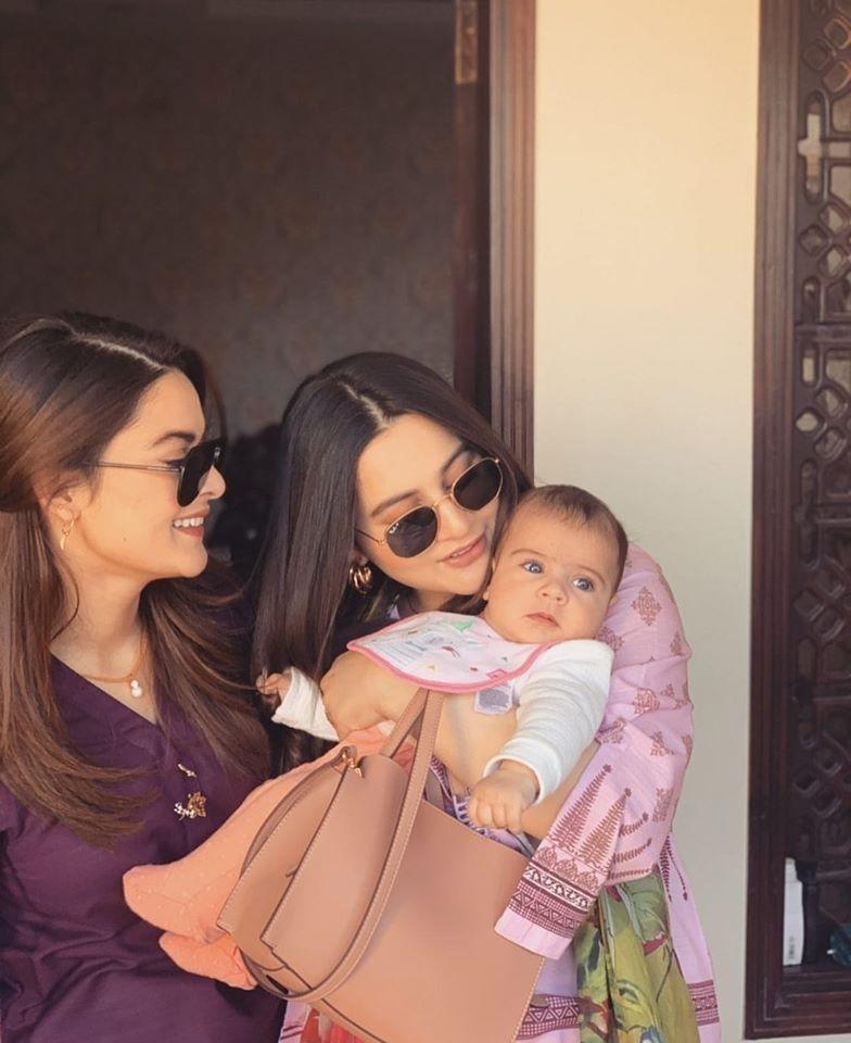 Aiman Khan and Minal Khan Beautiful Clicks with Amal Muneeb