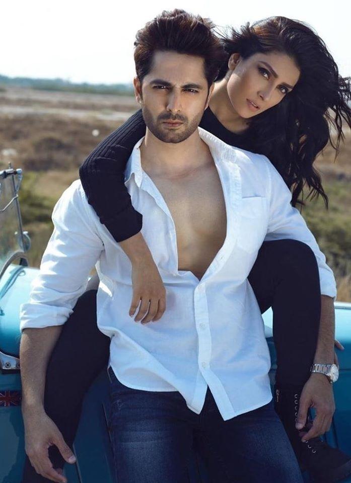 Real Life Couple Danish Taimoor and Ayeza Khan Shooting for an Upcoming Project