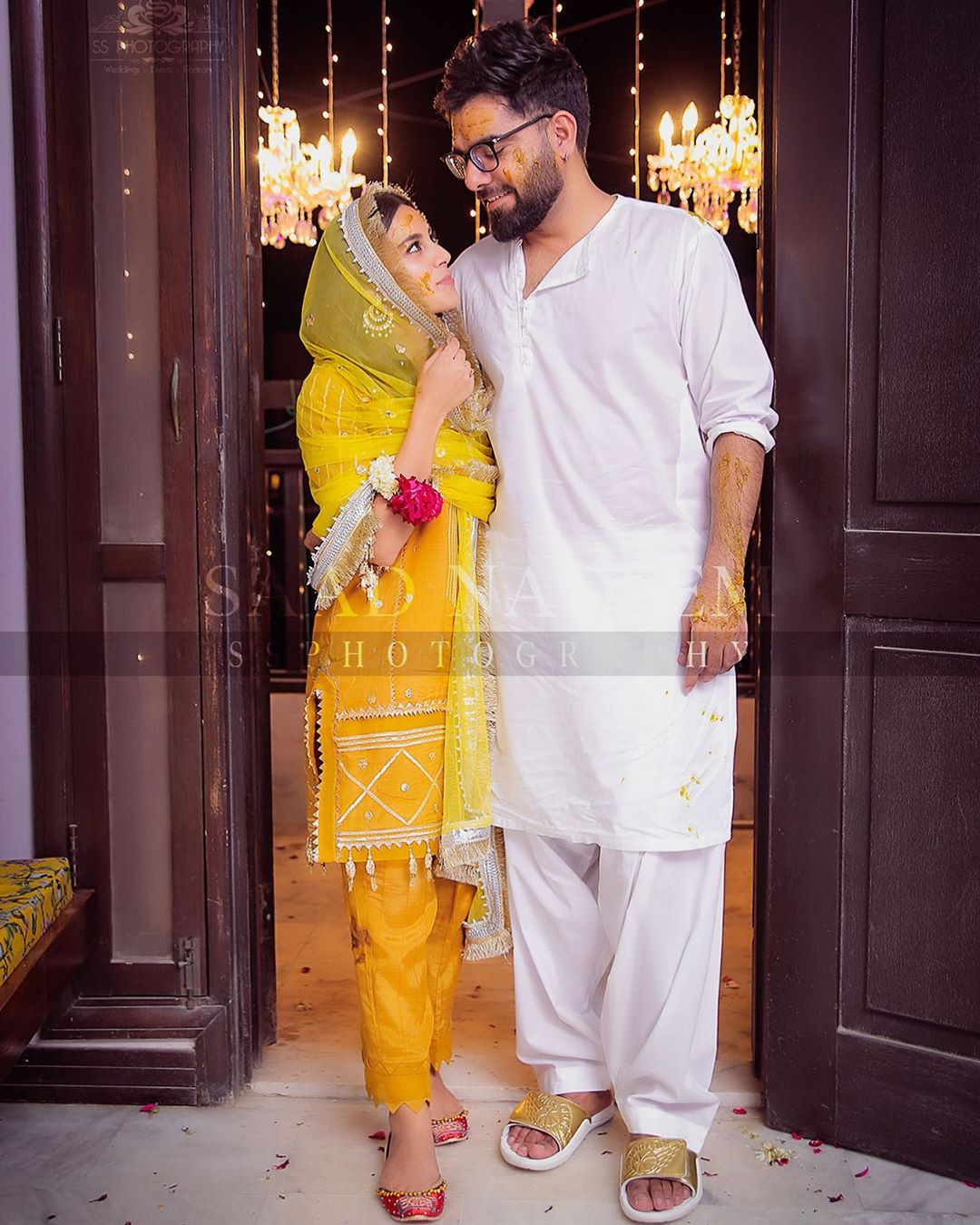 Beautiful pictures from Iqra Aziz and Yasir Hussain's Mayun