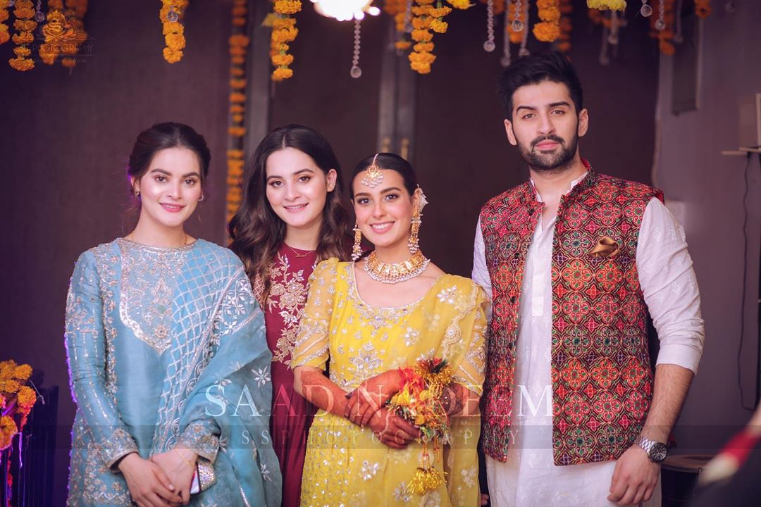 Celebrities Spotted at the Mehndi Event of Iqra Aziz and Yasir Hussain