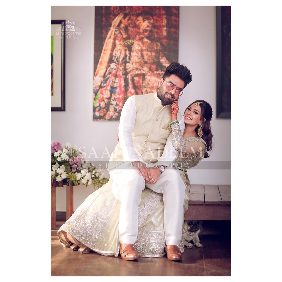 Beautiful HD Pictures of Iqra Aziz and Yasir Hussain Walima
