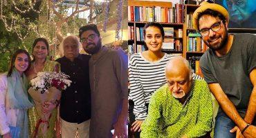 Iqra Aziz And Yasir Hussain At Mr And Mrs Anwar Maqsood's Wedding Anniversary