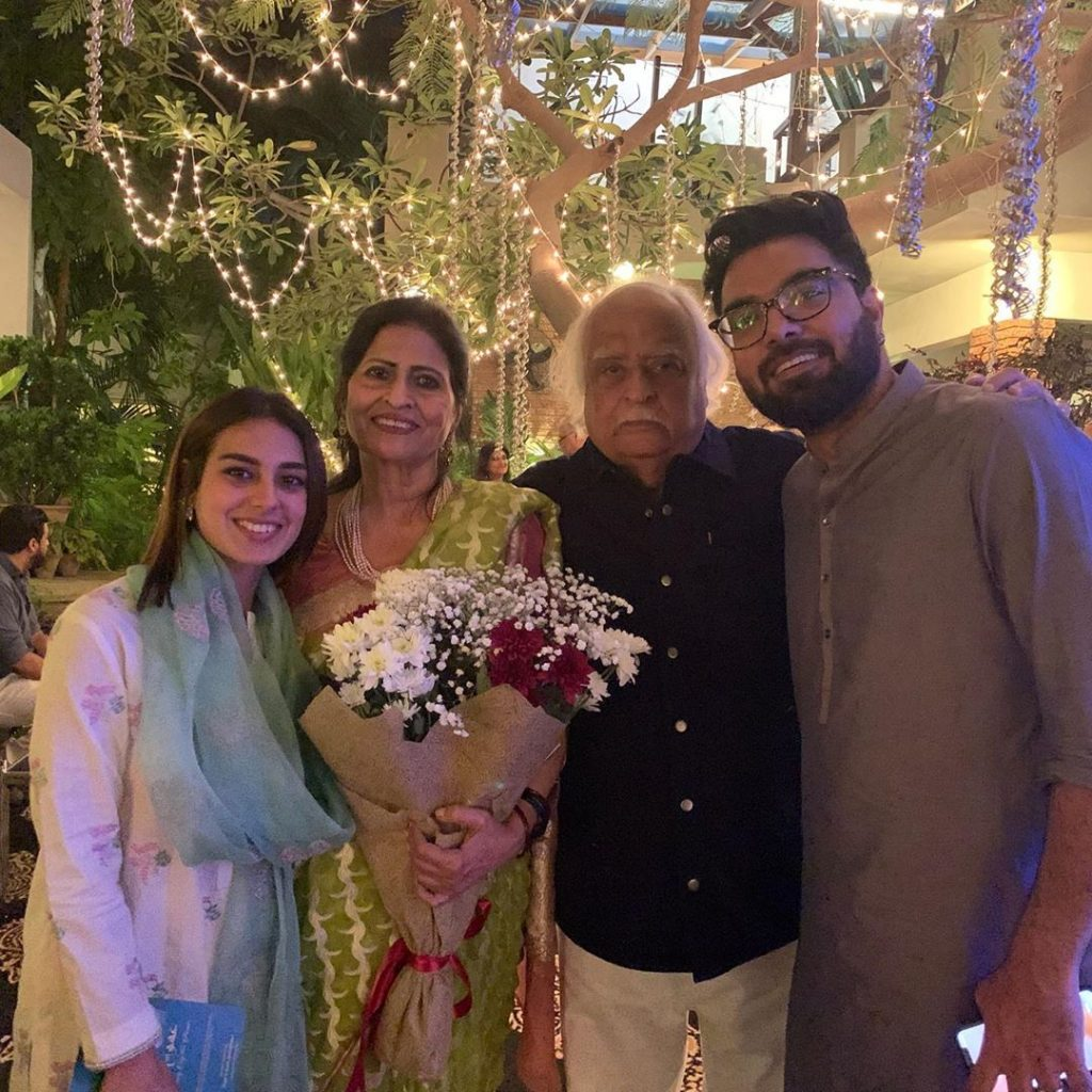 Iqra Aziz And Yasir Hussain At Mr And Mrs Anwar Maqsood's Wedding Anniversary