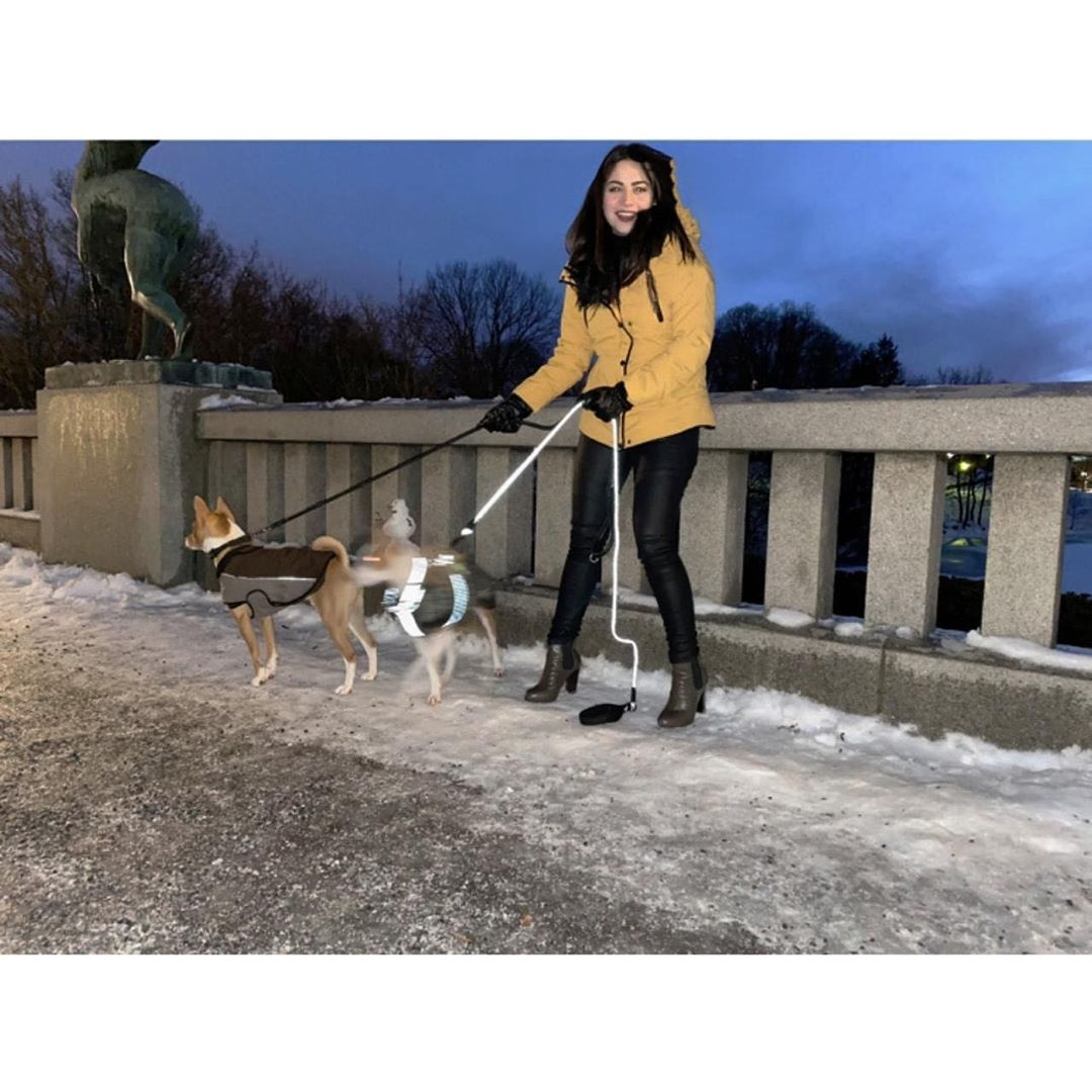Beautiful Neelam Muneer Khan Enjoying Winter in Oslo Norway