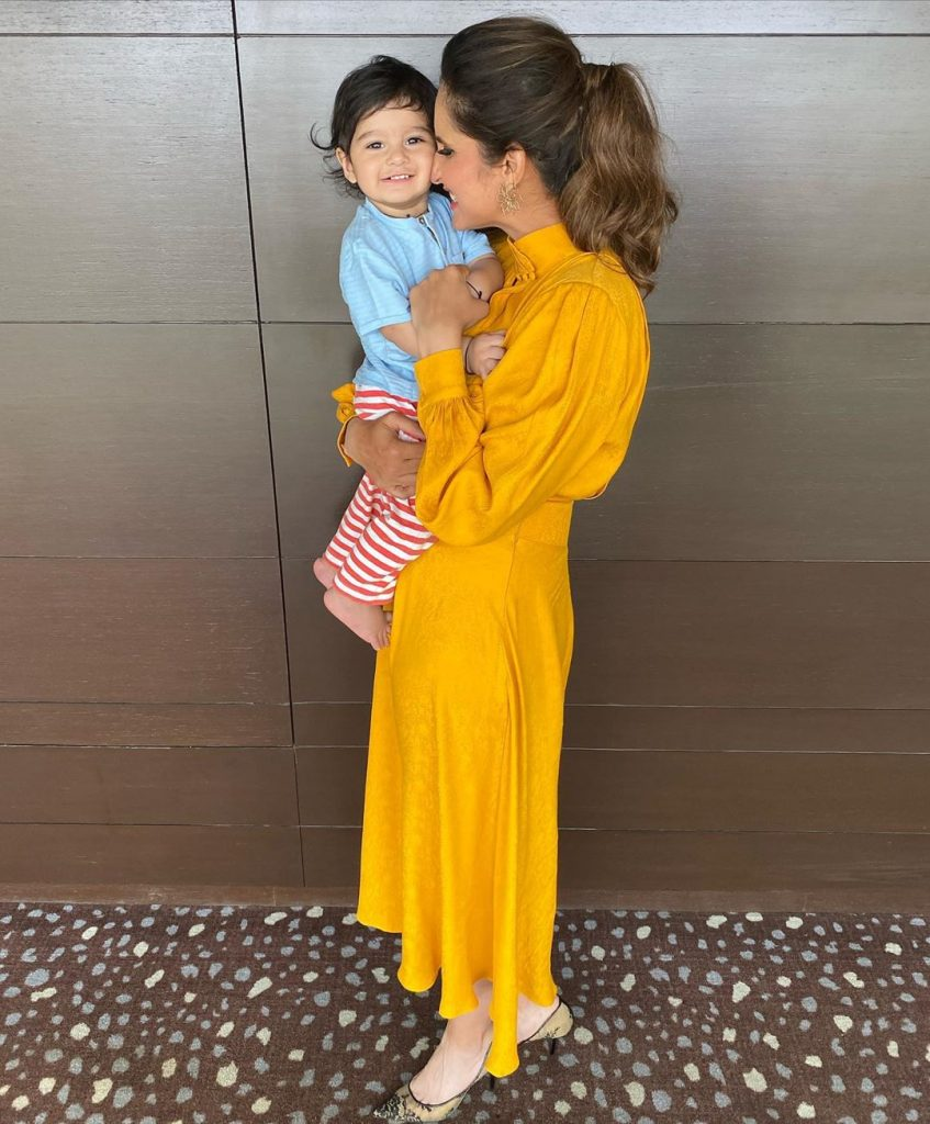 Sania Mirza Posted Cutest Pictures With Her Baby 4