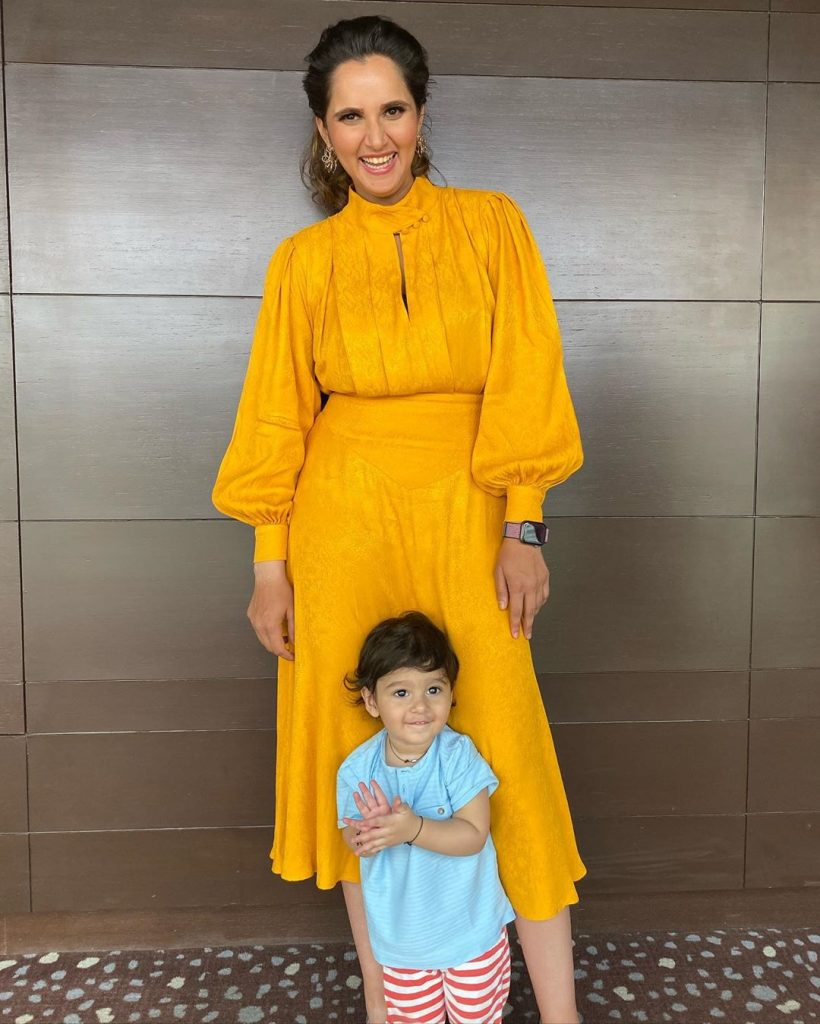 Sania Mirza Posted Cutest Pictures With Her Baby 5