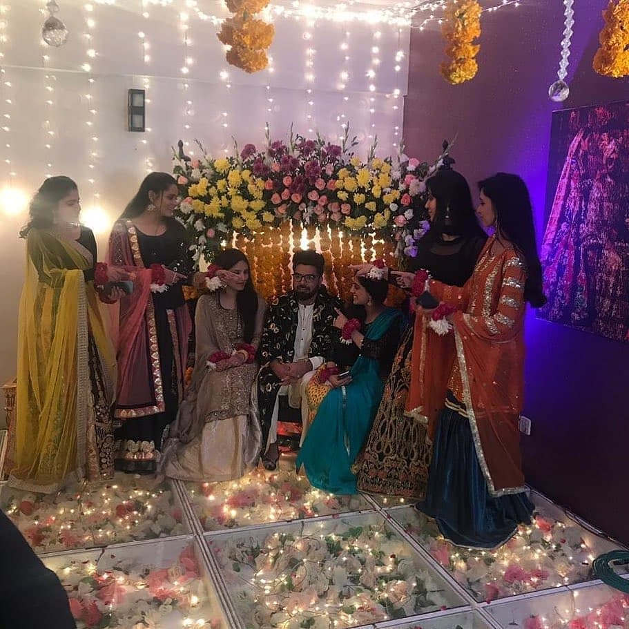 Iqra Aziz and Yasir Hussain Mehndi Pictures and Videos