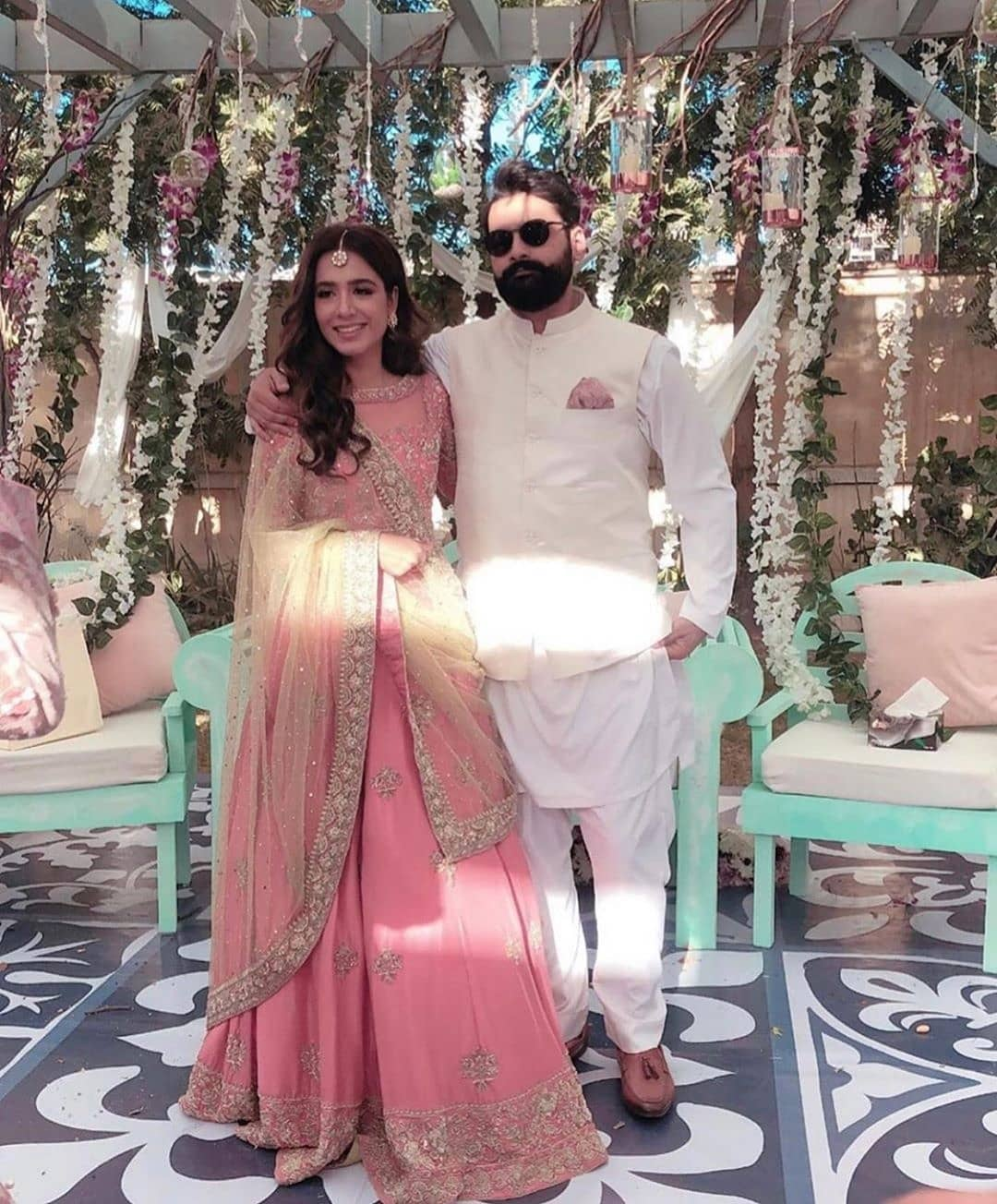 Actress Mansha Pasha and Jibran Nasir's Engagement Pictures