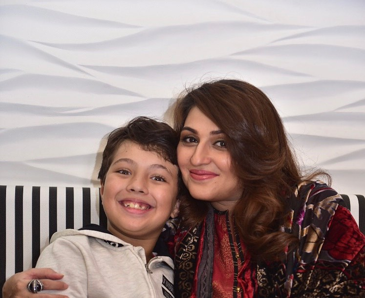 Beautiful Pictures of Qurat ul Ain Iqrar with her Son Pehlaaj