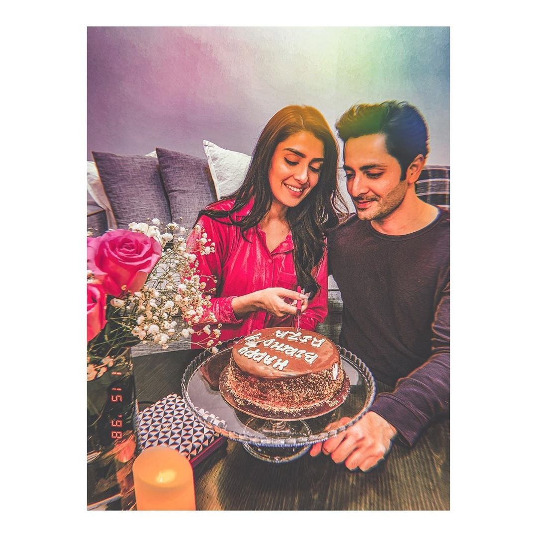 Ayeza Khan Celebrating her Birthday with Husband Danish Taimoor