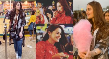 Beautiful Aiman Khan and Minal Khan Spotted at Eat Karachi Festival