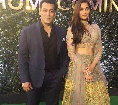 Saiee Manjrekar Indian Actress with Salman Khan
