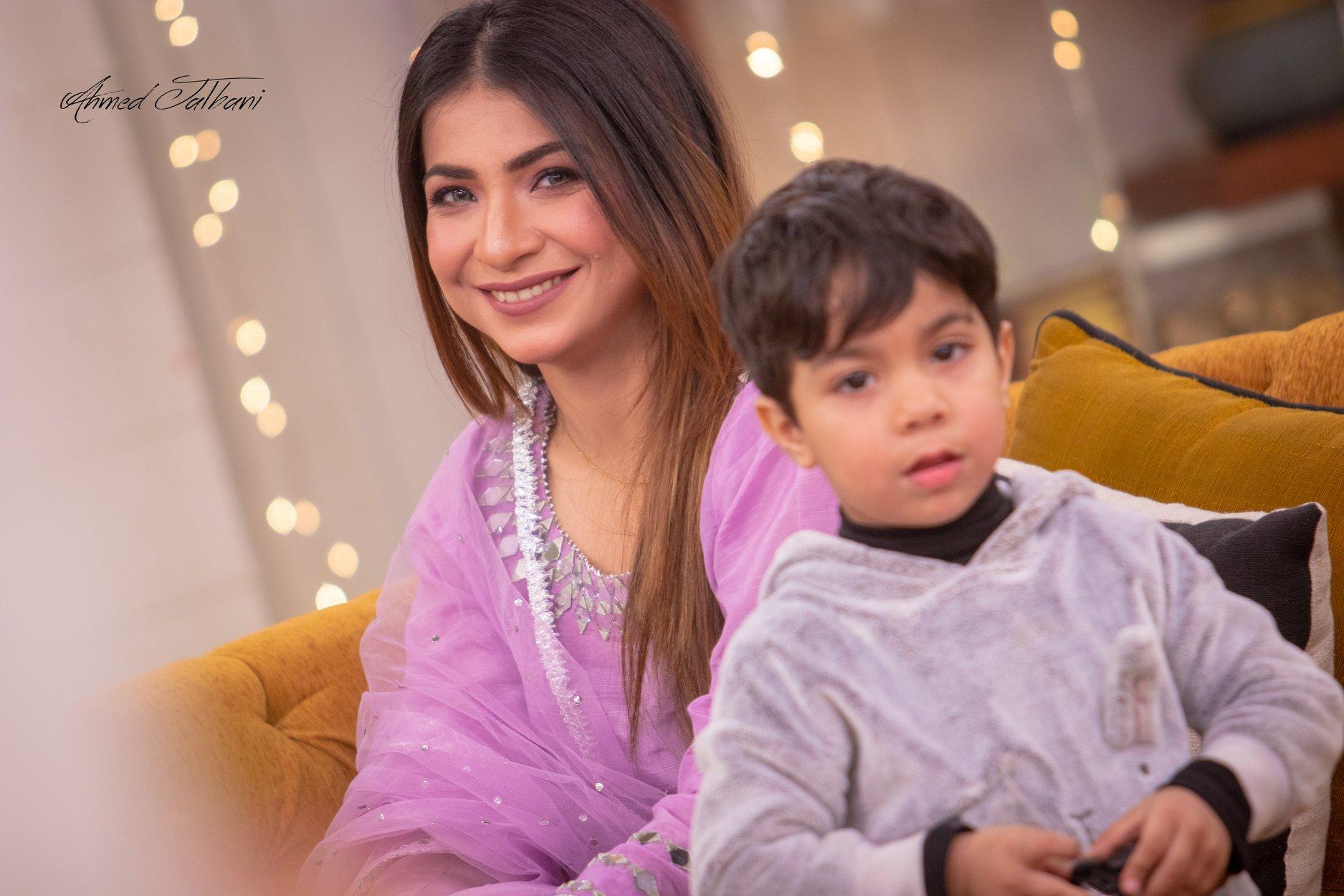 Mere Paas Tum Ho Fame Roomi & Dua Malik With Kids in Nida Yasir Morning Show