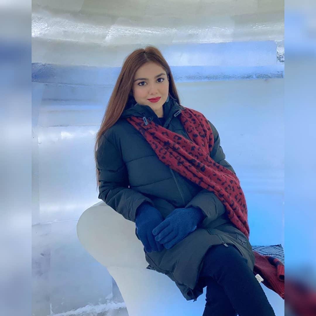 Beautiful Clicks of Syeda Tuba Aamir from Winter Land Karachi
