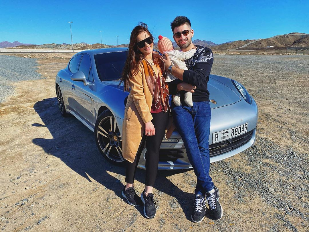 Aiman Khan's and Muneeb Butt Beautiful Pictures from Dubai