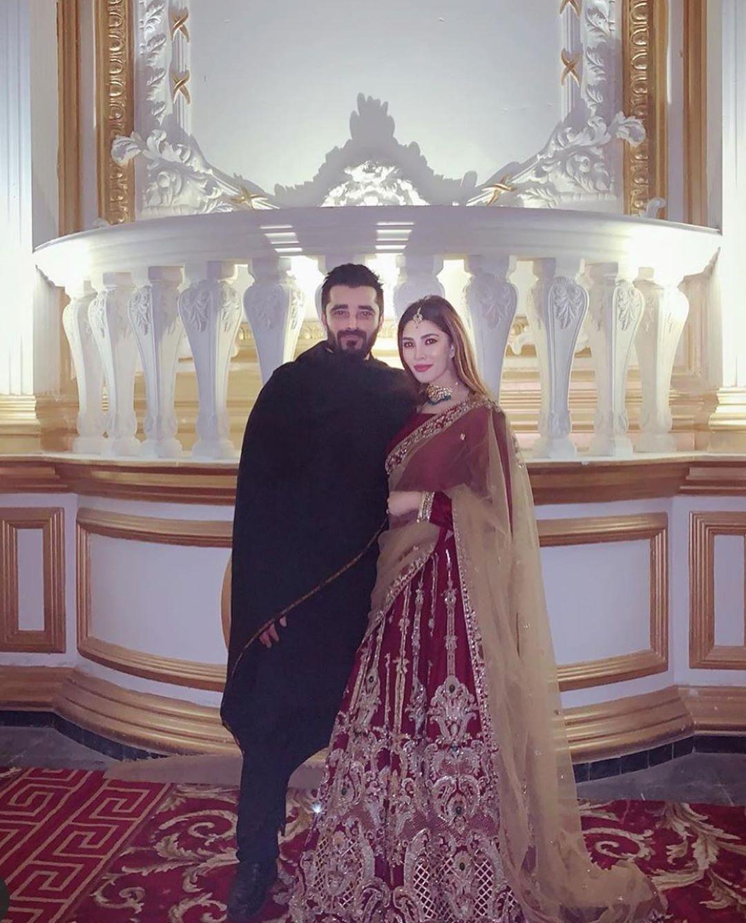 Beautiful Clicks of Hamza Ali Abbasi and Naimal Khawar at a Recent Wedding Event