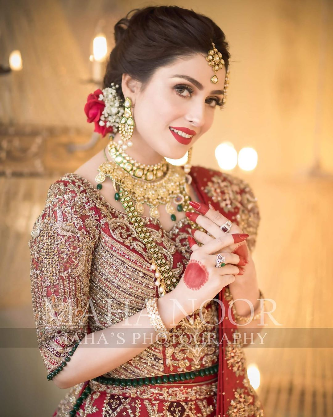 Beautiful Actress Ayeza Khan's Latest Bridal Photo Shoot