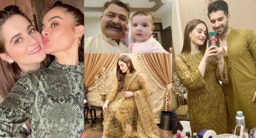 Latest Beautiful Pictures of Aiman Khan with her Daughter Amal Muneeb