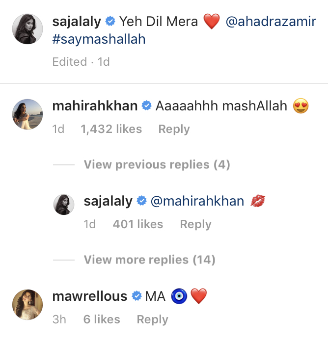 Mahira Khan And Mawra Hocane Sending Love To Ahad Sajal