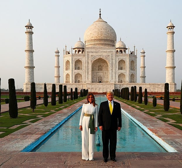 Melania Trump Wears Pakistani Colors In India 19