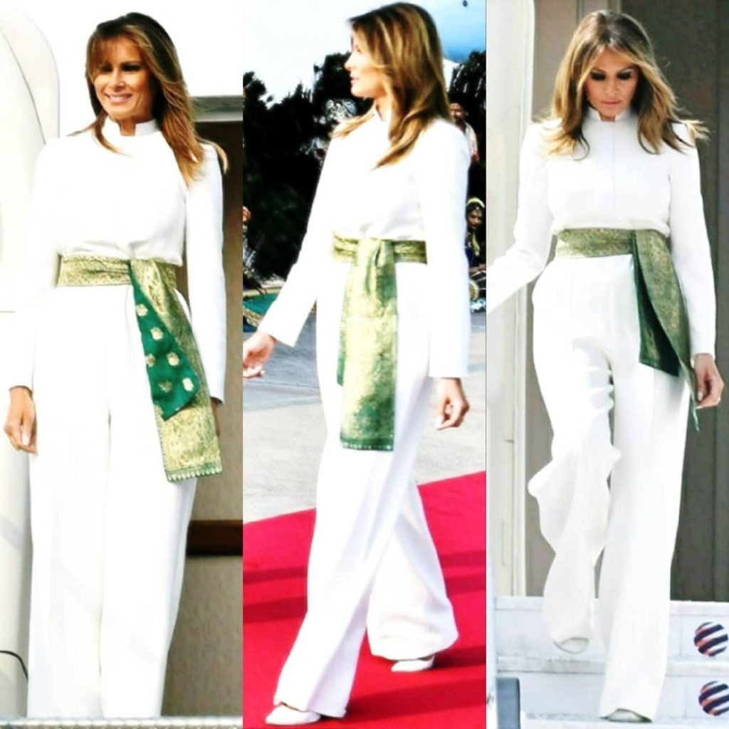 Melania Trump Wears Pakistani Colors In India 20