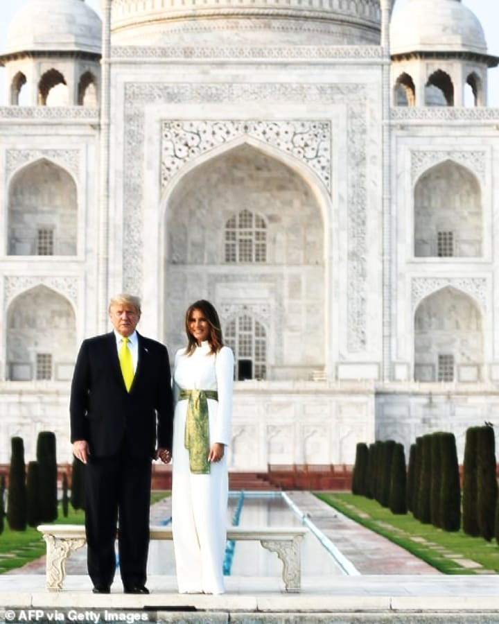 Melania Trump Wears Pakistani Colors In India 21