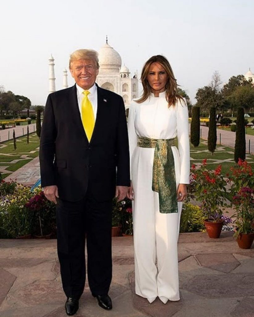 Melania Trump Wears Pakistani Colors In India 4