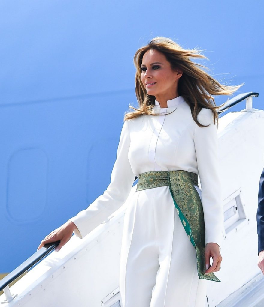 Melania Trump Wears Pakistani Colors In India 7