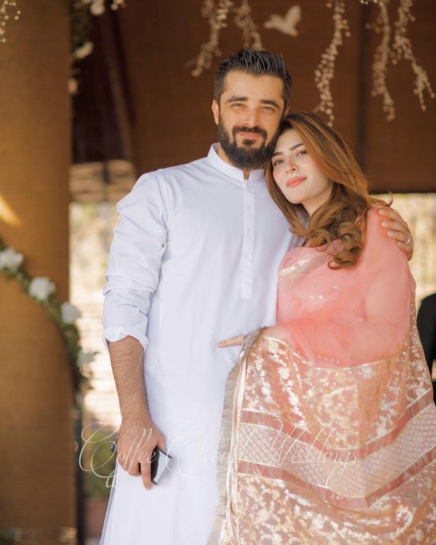Beautiful Latest Clicks of Hamza Ali Abbasi and Naimal Khawar