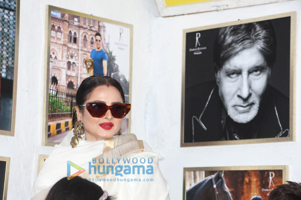 "Rekha on posing next to Amitabh Bachchan's picture – ""Yahan danger zone hai"" 11"