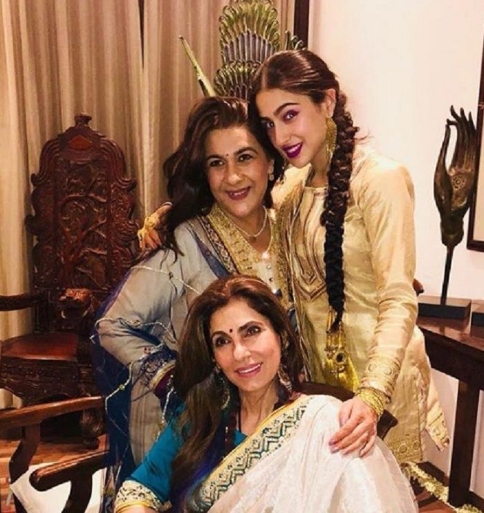Sara Ali Khan Amrita Singh Dimple Kapadia