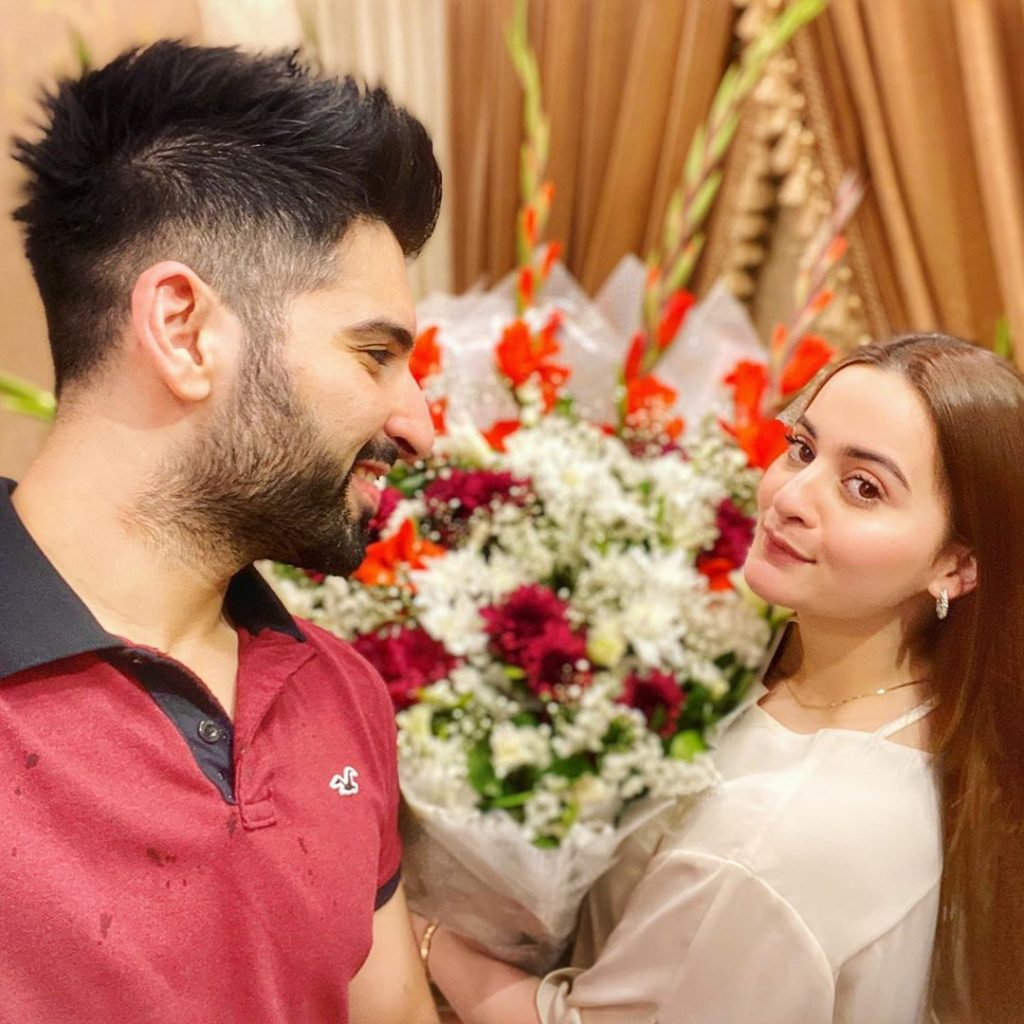 Muneeb Butt Has An Endearing Wish For Wife Aiman This Valentine's Day