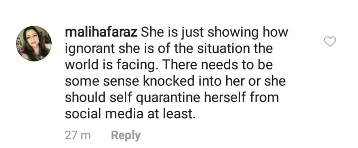 Hira Mani Slammed For Insensitive Jokes About Coronavirus
