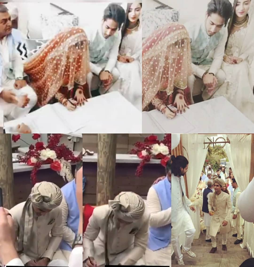Ahad And Sajal Nikkah Pictures