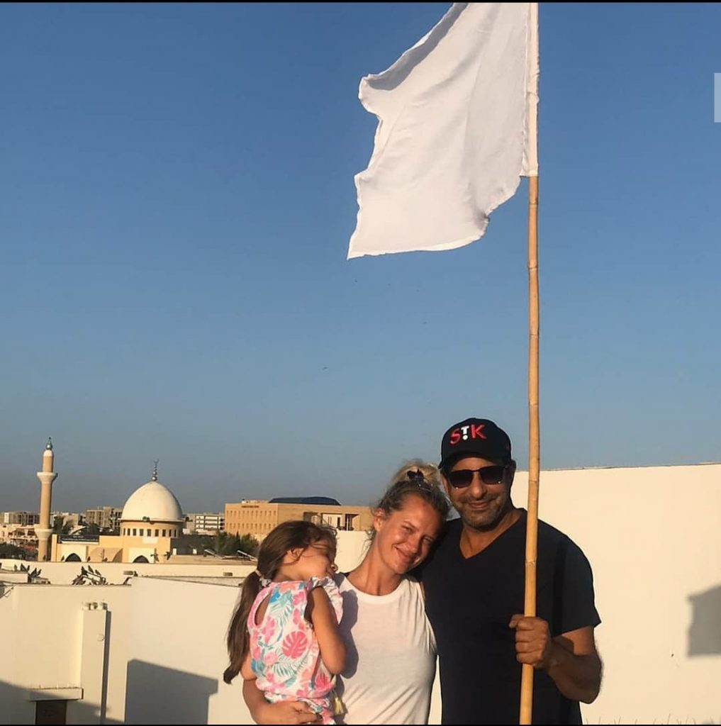 Pakistani Celebrities On Their Balconies With White Flags