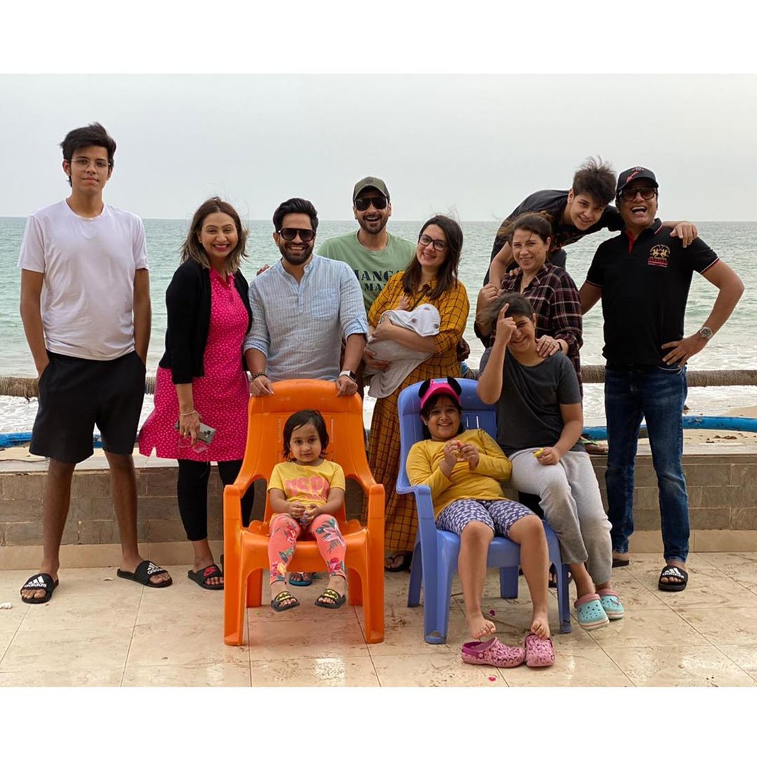 Family Enjoying Time Together On Beautiful Foggy Beach: Faisal Qureshi Enjoying With Family At Beach